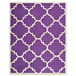 Safavieh Cambridge 8-Foot x 10-Foot Lynn Wool Rug in Purple/Ivory