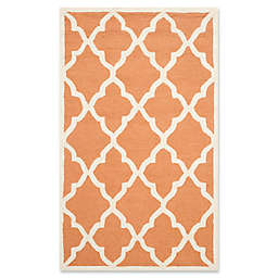 Safavieh Cambridge 3-Foot x 5-Foot Erica Wool Rug in Coral/Ivory