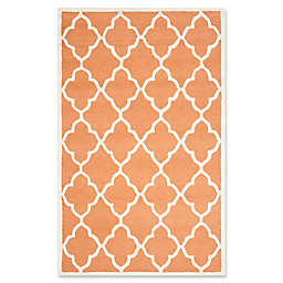 Safavieh Cambridge 4-Foot x 6-Foot Erica Wool Rug in Coral/Ivory