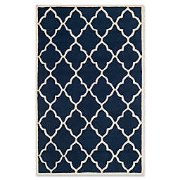 Safavieh Cambridge 5' x 8' Erica Wool Area Rug in Navy /Ivory