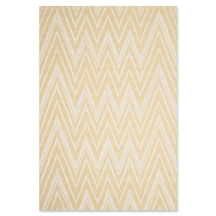 Alternate image 1 for Safavieh Cambridge 6-Foot x 9-Foot Olivia Wool Rug in Light Gold/Ivory