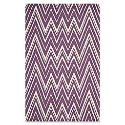 Safavieh Cambridge 6-Foot x 9-Foot Olivia Wool Rug in Purple/Ivory