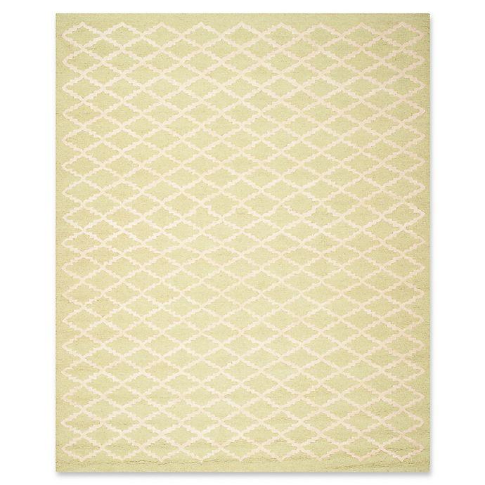 Alternate image 1 for Safavieh Cambridge 8-Foot x 10-Foot Jada Wool Rug in Light Green/Ivory