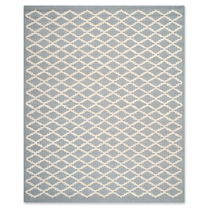 Alternate image 1 for Safavieh Cambridge 8-Foot x 10-Foot Jada Wool Rug in Silver/Ivory