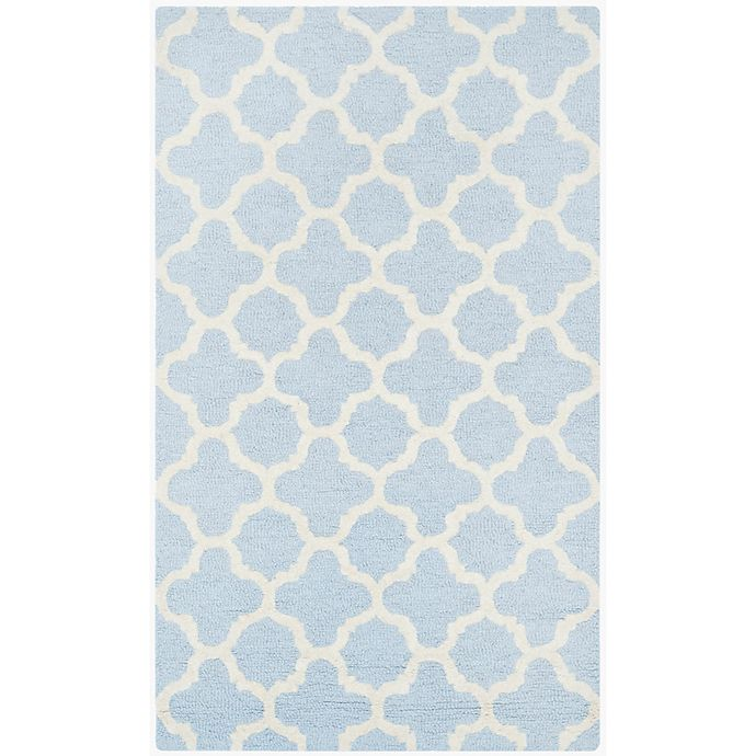 Alternate image 1 for Safavieh Cambridge 2-Foot 6-Inch x 4-Foot Ally Wool Rug in Light Blue/Ivory