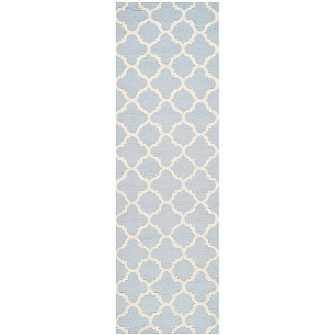 Alternate image 1 for Safavieh Cambridge 2-Foot 6-Inch x 6-Foot Ally Wool Rug in Light Blue/Ivory