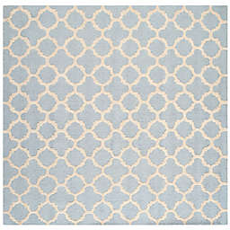 Safavieh Cambridge 4-Foot x 4-Foot Ally Wool Rug in Light Blue/Ivory