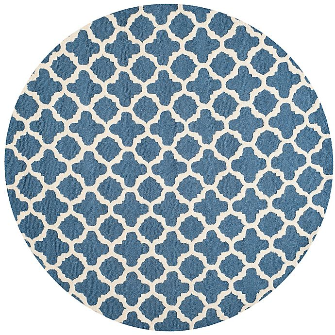 Alternate image 1 for Safavieh Cambridge 6-Foot x 6-Foot Ally Wool Rug in Navy /Ivory
