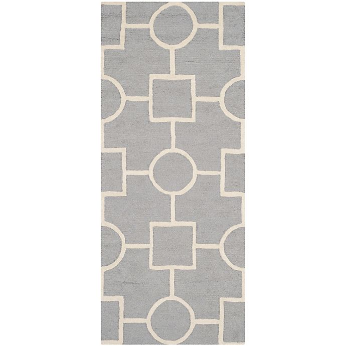 Alternate image 1 for Safavieh Cambridge 2-Foot 6-Inch x 6-Foot Mariel Wool Rug in Silver/Ivory