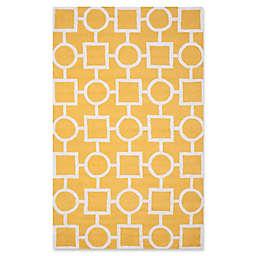 Safavieh Cambridge 5-Foot x 8-Foot Mariel Wool Rug in Gold/Ivory