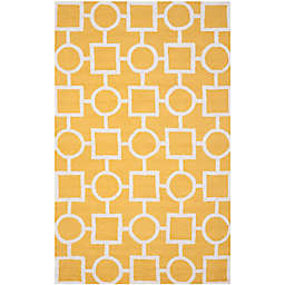 Safavieh Cambridge 6-Foot x 9-Foot Mariel Wool Rug in Gold/Ivory