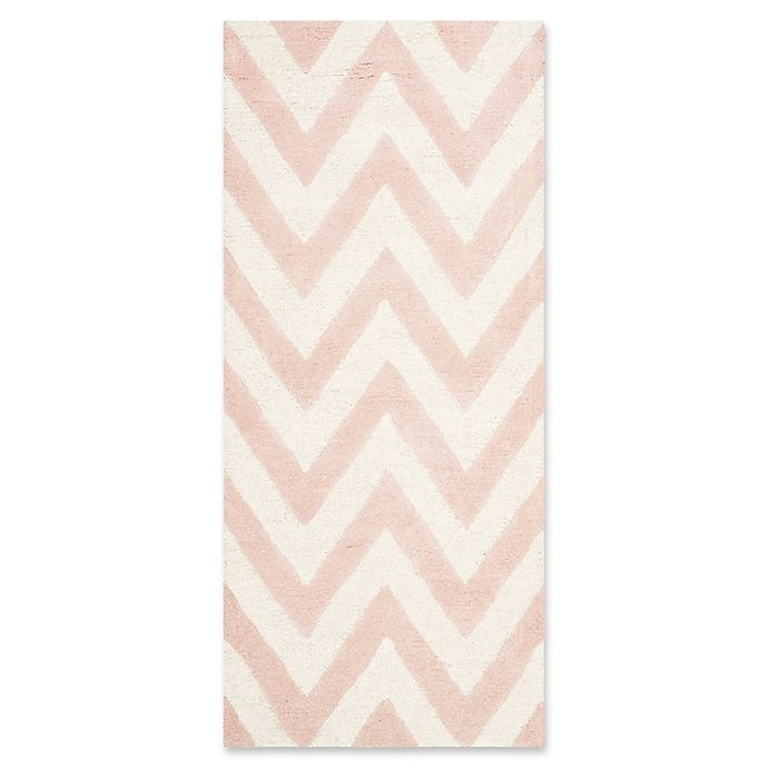Alternate image 1 for Safavieh Cambridge 2-Foot 6-Inch x 6-Foot Abby Wool Rug in Light Pink/Ivory