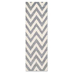 Safavieh Cambridge 2-Foot 6-Inch x 6-Foot Abby Wool Rug in Silver/Ivory