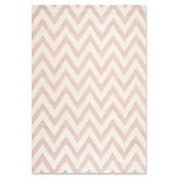 Safavieh Cambridge 6-Foot x 9-Foot Abby Wool Rug in Light Pink/Ivory