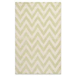 Safavieh Cambridge 7-Foot 6-Inch x 9-Foot 6-Inch Abby Wool Rug in Light Green/Ivory