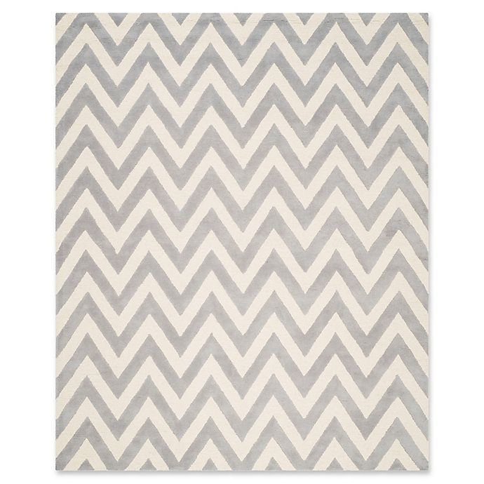 Alternate image 1 for Safavieh Cambridge 9-Foot x 12-Foot Abby Wool Rug in Silver/Ivory