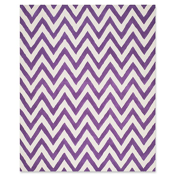 Alternate image 1 for Safavieh Cambridge 9-Foot x 12-Foot Abby Wool Rug in Purple/Ivory