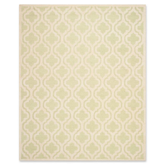 Alternate image 1 for Safavieh Cambridge 9-Foot x 12-Foot Becca Wool Rug in Light Green/Ivory