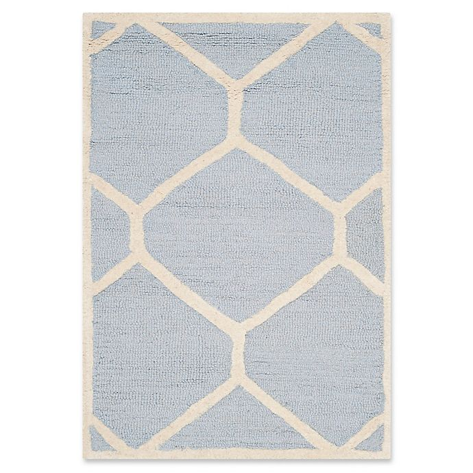 Alternate image 1 for Safavieh Cambridge 2-Foot 6-Inch x 4-Foot Jayme Wool Rug in Light Blue/Ivory