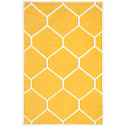 Safavieh Cambridge 4-Foot x 6-Foot Jayme Wool Rug in Gold/Ivory