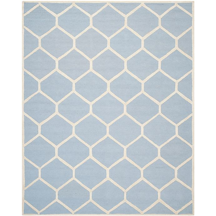 Alternate image 1 for Safavieh Cambridge 9-Foot x 12-Foot Jayme Wool Rug in Light Blue/Ivory