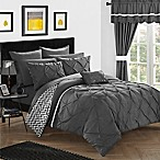 Chic Home Fortville Reversible King Comforter Set in Grey