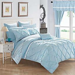 Chic Home Fortville Reversible King Comforter Set in Blue