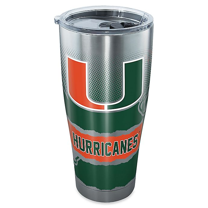 Alternate image 1 for Tervis® University of Miami 30 oz. Knockout Stainless Steel Tumbler with Lid