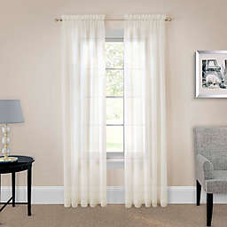 Pairs to Go™ Victoria Voile Rod Pocket Window Curtain Panel Pair