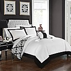 Chic Home Mallow Reversible Queen Duvet Cover Set in Black