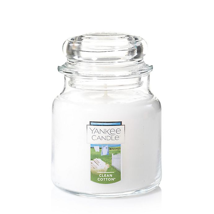 Alternate image 1 for Yankee Candle® Housewarmer® Clean Cotton® Medium Classic Jar Candle
