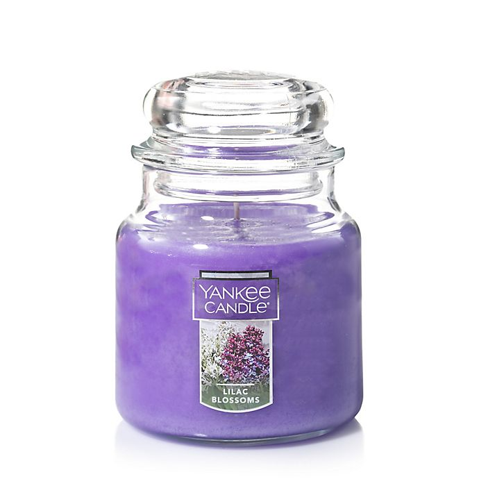 Alternate image 1 for Yankee Candle® Housewarmer® Lilac Blossoms Medium Classic Jar Candle