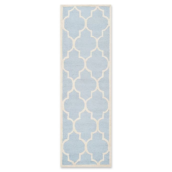 Alternate image 1 for Safavieh Cambridge 2-Foot 6-Inch x 6-Foot Tara Wool Rug in Light Blue/Ivory