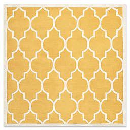 Safavieh Cambridge 6-Foot x 6-Foot Tara Wool Rug in Gold/Ivory