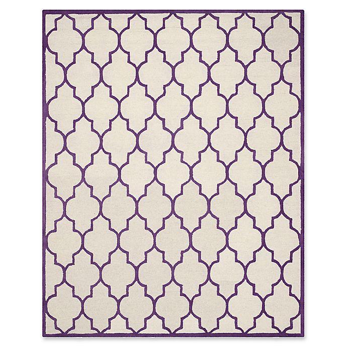 Alternate image 1 for Safavieh Cambridge 8-Foot x 10-Foot Tara Wool Rug in Ivory/Purple