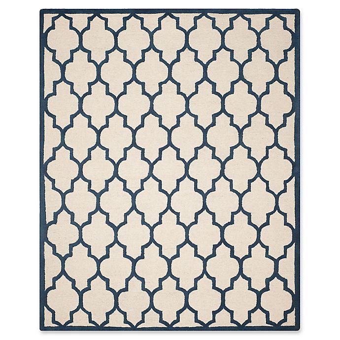 Alternate image 1 for Safavieh Cambridge 8-Foot x 10-Foot Tara Wool Rug in Ivory/Navy