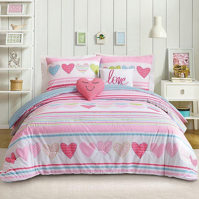 Alternate image 1 for Urban Playground Daphne 4-Piece Twin Comforter Set in Pink