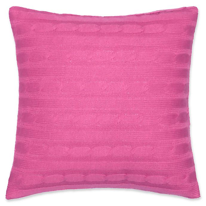 Alternate image 1 for Southern Tide® Long Bay Cable Knit Square Throw Pillow in Pink