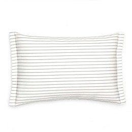 Southern Tide® Sullivan Pinstripe Oblong Throw Pillow in Grey