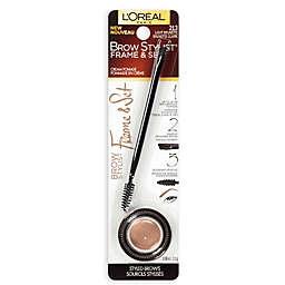 L'Oréal Brow Stylist Frame & Set 2-Piece Pomade and Brush Set Light Brunette
