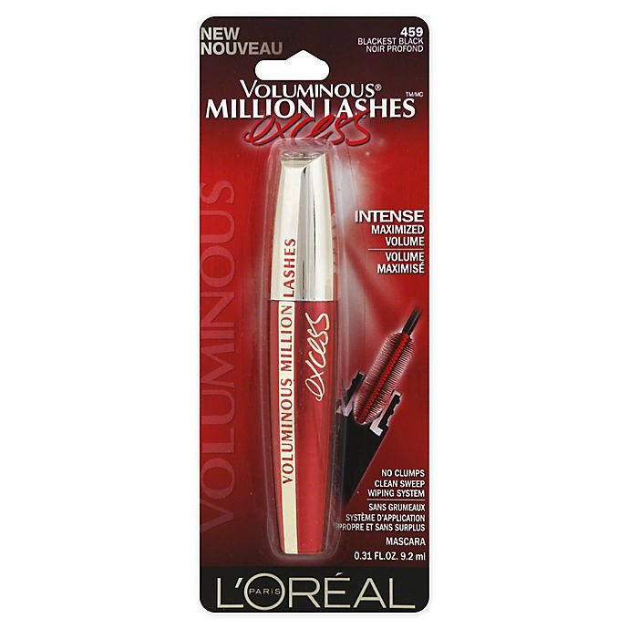 69235c4c64c L'Oréal® Paris .31 oz. Voluminous Million Lashes Excess Mascara in Blackest  Black