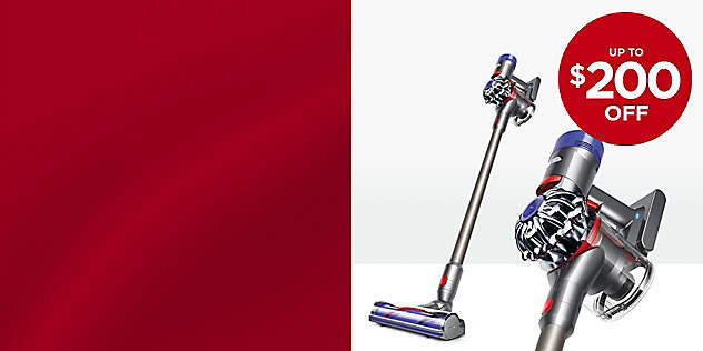 Up to $200 OFF Select Dyson Vacuums