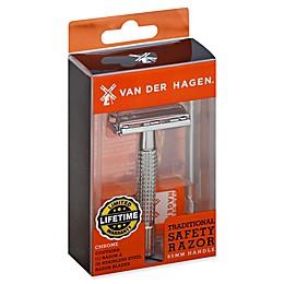 Van Der Hagen® Traditional Safety Chrome Razor