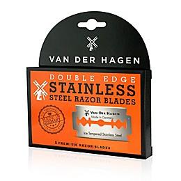 Van Der Hagen® 5-Count Premium Double Edge Ice Tempered Stainless Steel Razor Blades