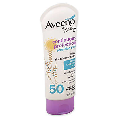 Aveeno Baby® Continuous Protection® 3 fl. oz. SPF 50 Sunscreen Lotion for Sensitive Skin