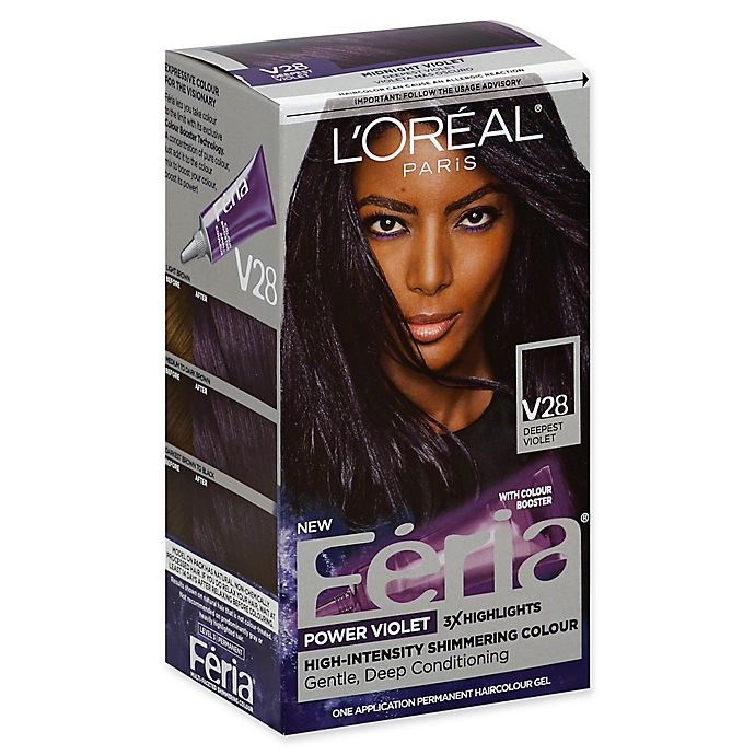 Alternate image 1 for L'Oreal® Féria® Power Violet Permanent Haircolour Gel in V28 Deepest Violet