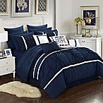 Chic Home Palmetto 16-Piece King Comforter Set in Navy