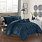 Chic Home Sheffield 10-Piece Queen Comforter Set in Navy