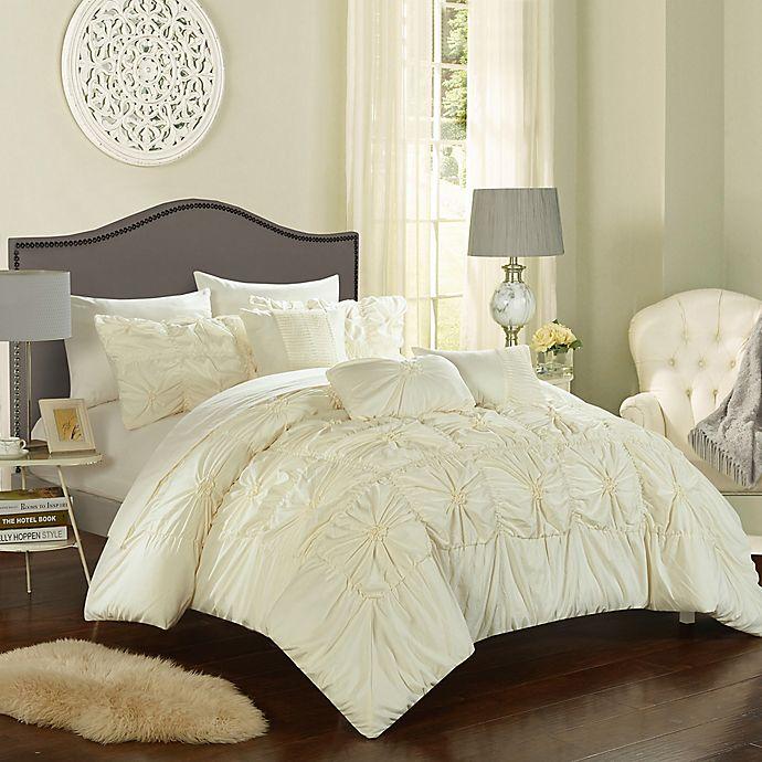 Alternate image 1 for Chic Home Sheffield 10-Piece Queen Comforter Set in Beige