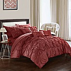 Chic Home Sheffield 10-Piece King Comforter Set in Brick